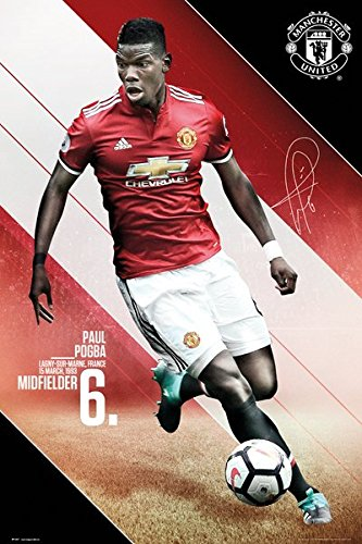 Manchester United - Soccer Poster / Print (Paul Pogba - 2017 / 2018) (Size: 24