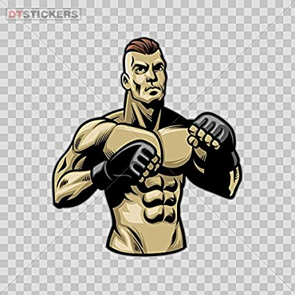 Amazon com: Decal Stickers Mma Mixed Martial Arts Gym Boxer