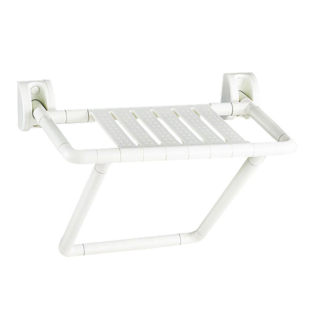 XUEPING バスルームシャワー便 折りたたみシャワーの壁のスツール 身体障害者用シート ドレッシングスツール バスルーム手すり ウォールマウントシャワースツール 白 B07DCTRNM3