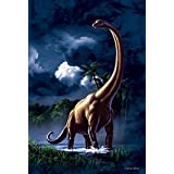 BRACHIOSAURUS - JERRY LOFARO - 9X12 HIGH QUALITY ALUMINIUM ART WORK PRINT READY FOR HANGING OR MOUNTING - THIS ART WORK PRINT SHOULD BE USED INDOORS. OUR ART WORK PRINT SIGNS MAKE EXCELLENT GIFTS!