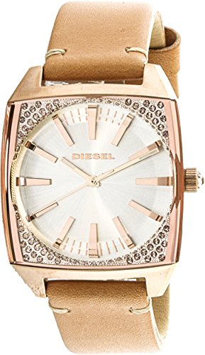 Diesel Women's 'Becky' Quartz Stainless Steel and Leather Casual Watch, Color:Brown (Model: DZ5556)