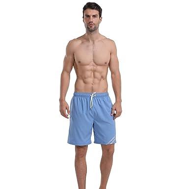 beautyjourney Pantalones de Playa para Hombre Traje de baño ...