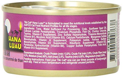 Tiki Cat Gourmet Whole Food 12-Pack Hana Luau Ahi Tuna with Crab in Consomme  Pet Food
