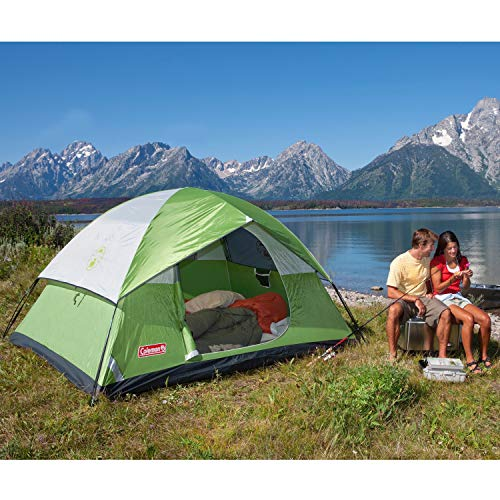 Coleman 6-Person Dome Tent for Camping | Sundome Tent with Easy Setup