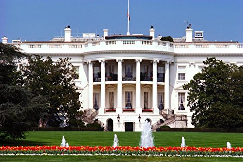The White House Washington DC South Face Photo Art Print Poster 36x24 inch