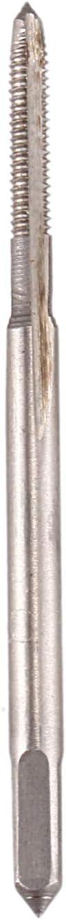 Cikuso 2mm Diametre de coupe 3 Flutes HSS Straight Screw Thread Tap 5 Pcs