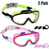 Yizerel 2 Pack Kids Swim Goggles, Swimming Glasses for Children and Early Teens from 3 to 15 Years Old, Wide Vision,...