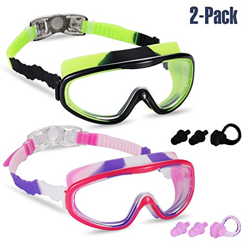 3d8ff758ca8 Yizerel 2 Pack Kids Swim Goggles