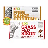 DNX Bar Grass Fed Bison and Free Range Chicken Paleo Protein Bars Whole30 Approved Jamaican Style Bison and Free Range Chicken Bars with Organic Fruits and Veggies. No Preservatives (8 Bars)