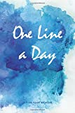 #10: One Line a Day Journal: A Five Year Memoir, 6x9 Lined Diary, Watercolor (Journals, Notebooks and Diaries)