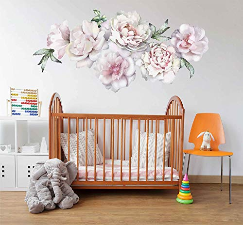- peony wall decals large flower wall decals flower wall decals 3d large flower wall decor vintage floral wall stickers nursery wall art decals cik2432