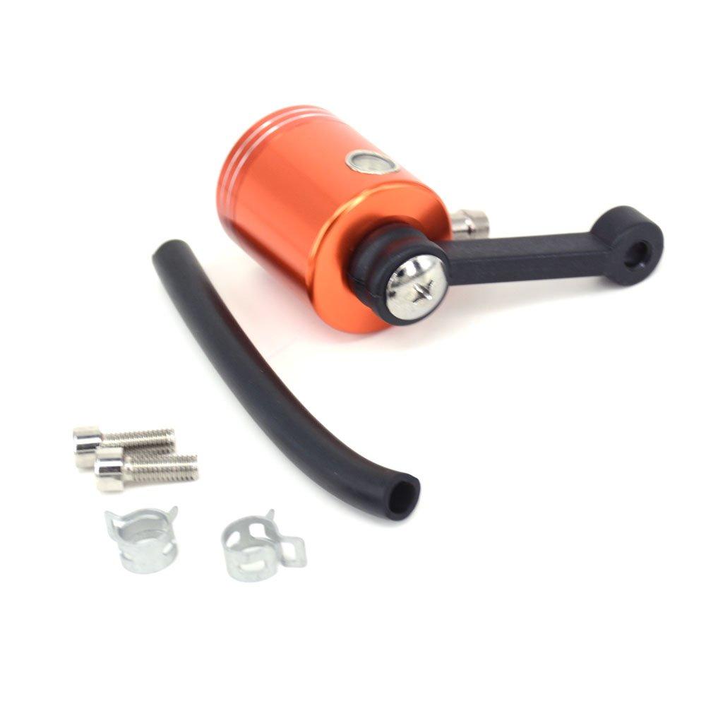 Fast Pro Arancione Alluminio CNC Freno Anteriore Frizione Serbatoio Cilindro Fluid Oil Reservoir Coppa per KTM EXC Excf Sxf XC Xcf Xcw SX 250/350/450/530/Pit Dirt Bike MX Enduro