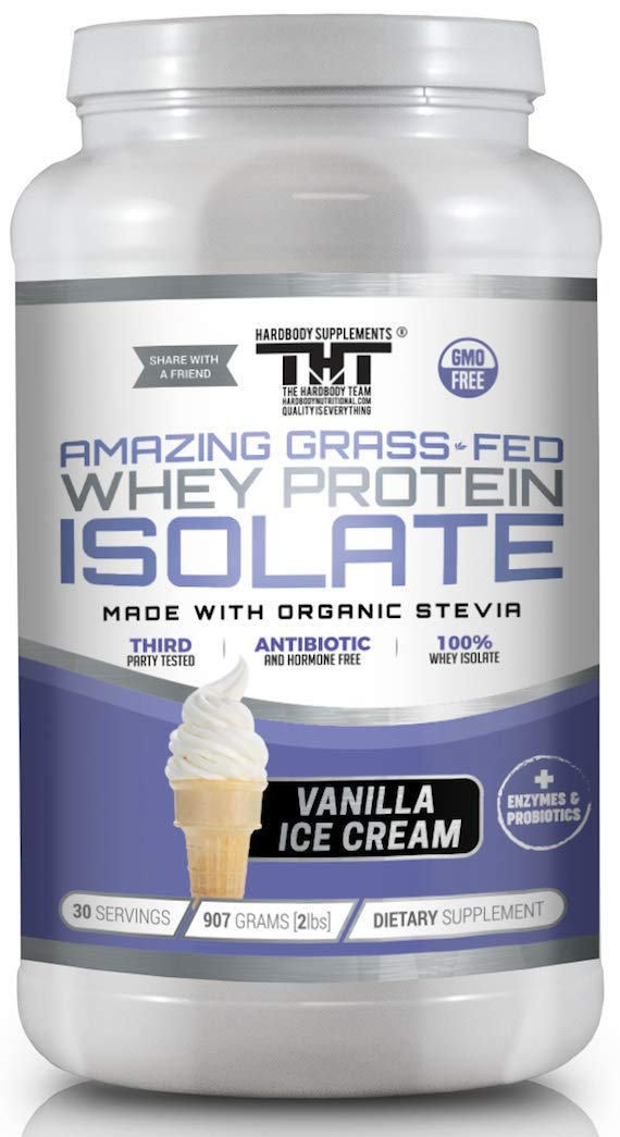 Amazing Grass Fed Whey Protein Powder. The Finest Protein Shake for Healthy Gut Bacteria, Digestive Health, Optimal Absorption of Nutrients, Stronger Immune System (30 Serving, Vanilla Ice Cream) by HARDBODY SUPPLEMENTS THT THE HARDBODY TEAM HARDBODYNUTRITIONAL.COM QUALITY IS EVERYTHING