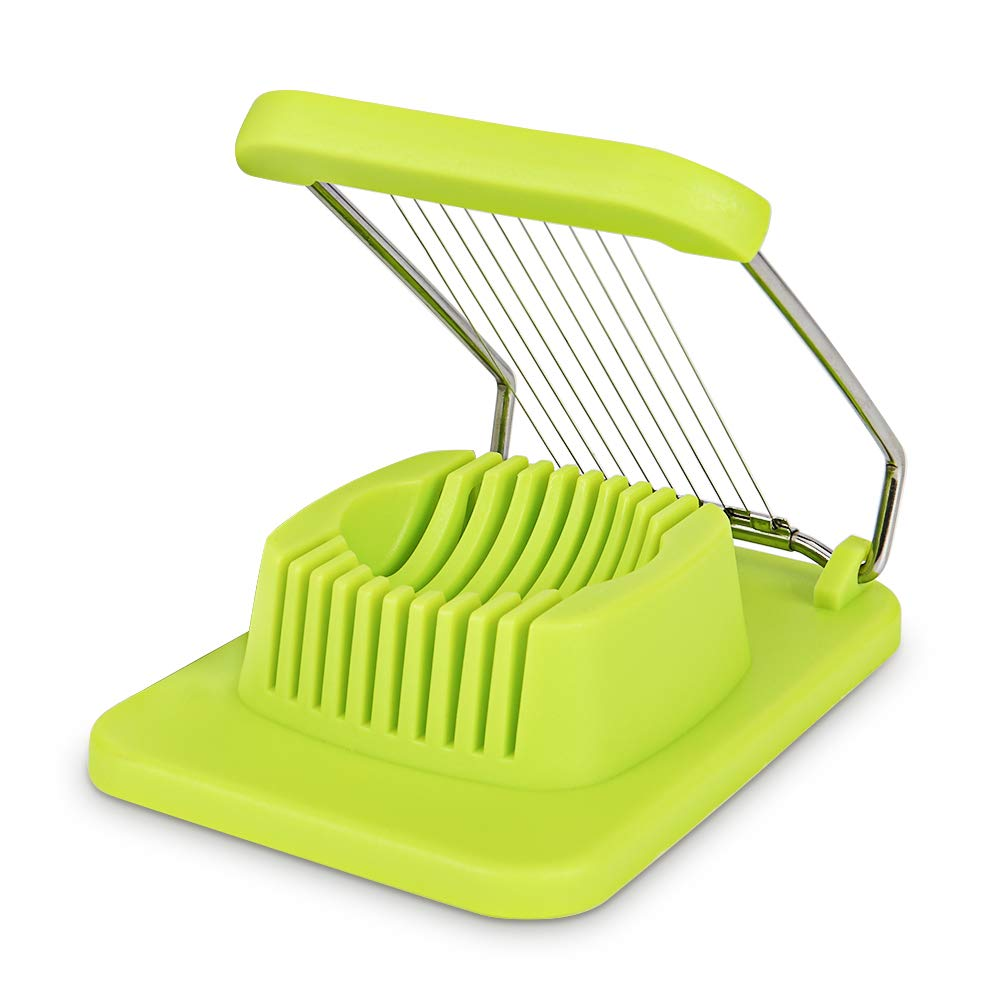 Egg Slicer, Sarissa Boiled Egg Cutter Chopper with Stainless Steel Wires Green