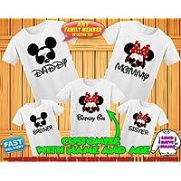 a74e0f6f0 Disney family matching custom t-shirts, Family vacation disney shirts,Mickey  Minnie mouse