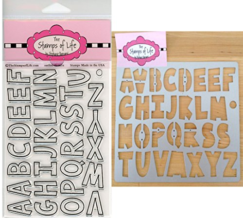 The Stamps of Life Fun Letters Alphabet Stamps and Dies for Card Making and Scrapbooking by Stephanie Barnard - Outline4Letters and ABC Die-Cuts ()