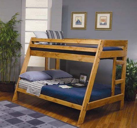 Twin Full Size Bunk Bed Cottage Style Amber Wash Finish (Cottage Style Sofa)