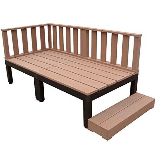 igarden アイガーデン アイウッドデッキPLUS 6点セットナチュラル アイガーデンオリジナル人工木ウッドデッキ、樹脂木、木樹脂、プラウッド、ウッドデッキセット、木製デッキ、縁台 B00ZUYMNHY