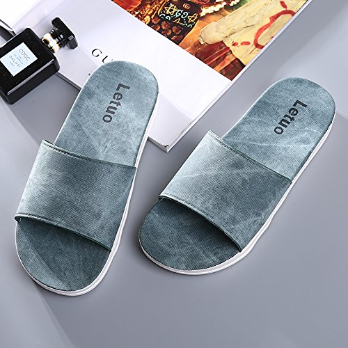 Zapatillas Blando Engrosamiento Verano hui Fresco Fondo De Zapatillas Home Parejas Blue Navy Y Casa Baño 8EXqn08x