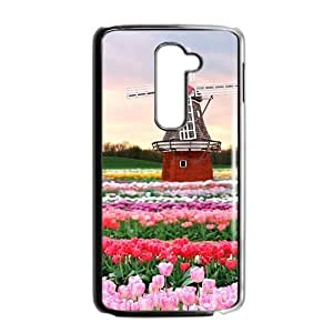 Beautiful flowers and windmill lovely phone case for LG G2
