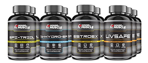 10 Week Advanced Muscle Building Stack - Boost Lean Muscle Mass & Strength - Epi-Triol, 5a-Hydro-Epi, EstroEx, LivSafe