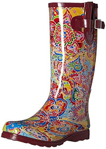 Nomad Femmes Flaques Iii Pluie Chaussures Papillions De Paisley
