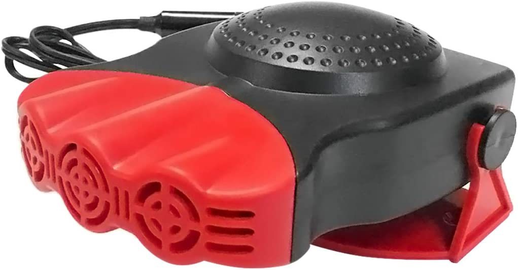 30 Seconds Quick Heating Fast Defroster 12 V 150 W Car Ceramic Heater Fan 3 Outlet Thawed // Mobile Heater Red red ABS Comtervi Portable Car Heater