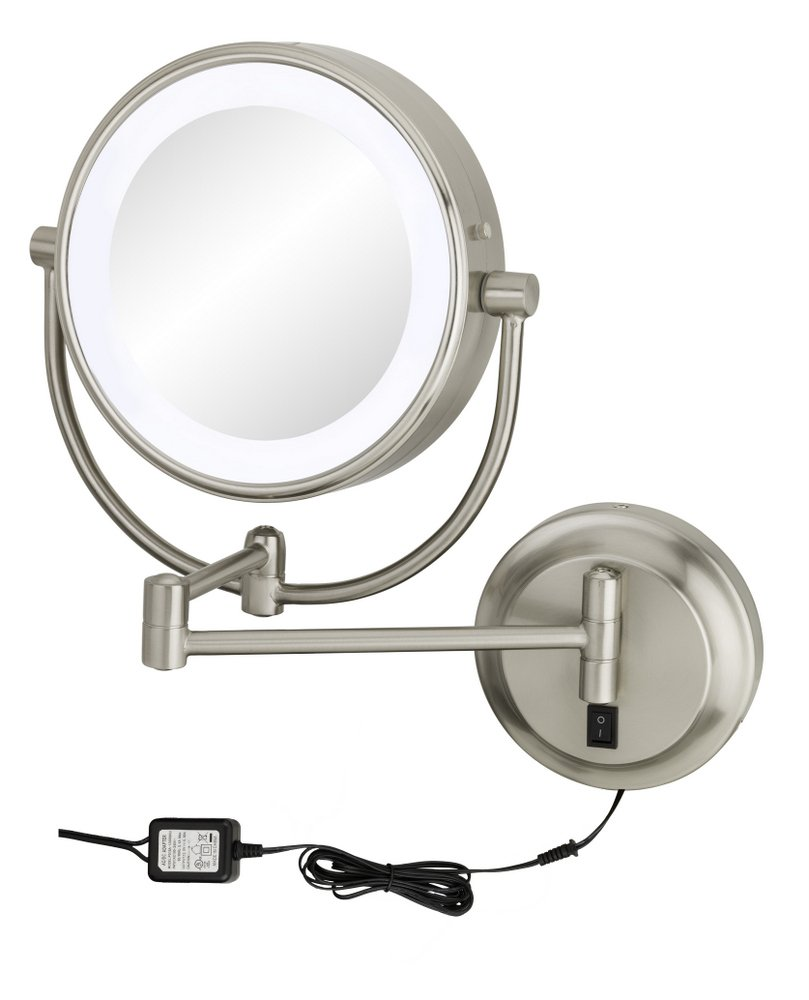 Kimball & Young 945-35-75HW Neomodern LED Lighted Wall Mirror Hardwired 9'' x 2.2'' Brushed Nickel