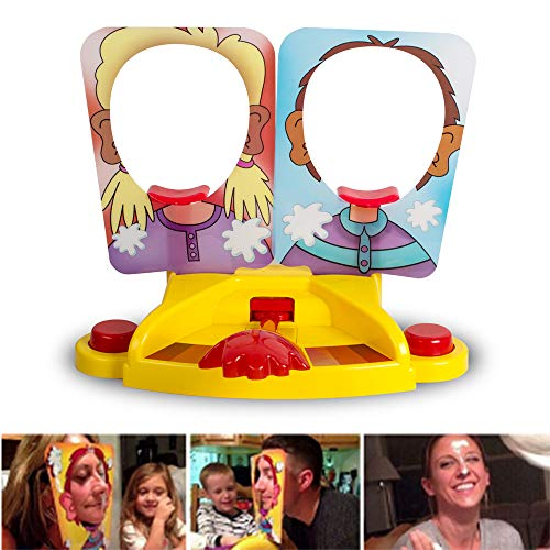 Zinnor Pie Face Showdown Game Double Pie Face Board Games Tricky Toys Double Cream Face Mask Family Game for Children - Face Toy Double