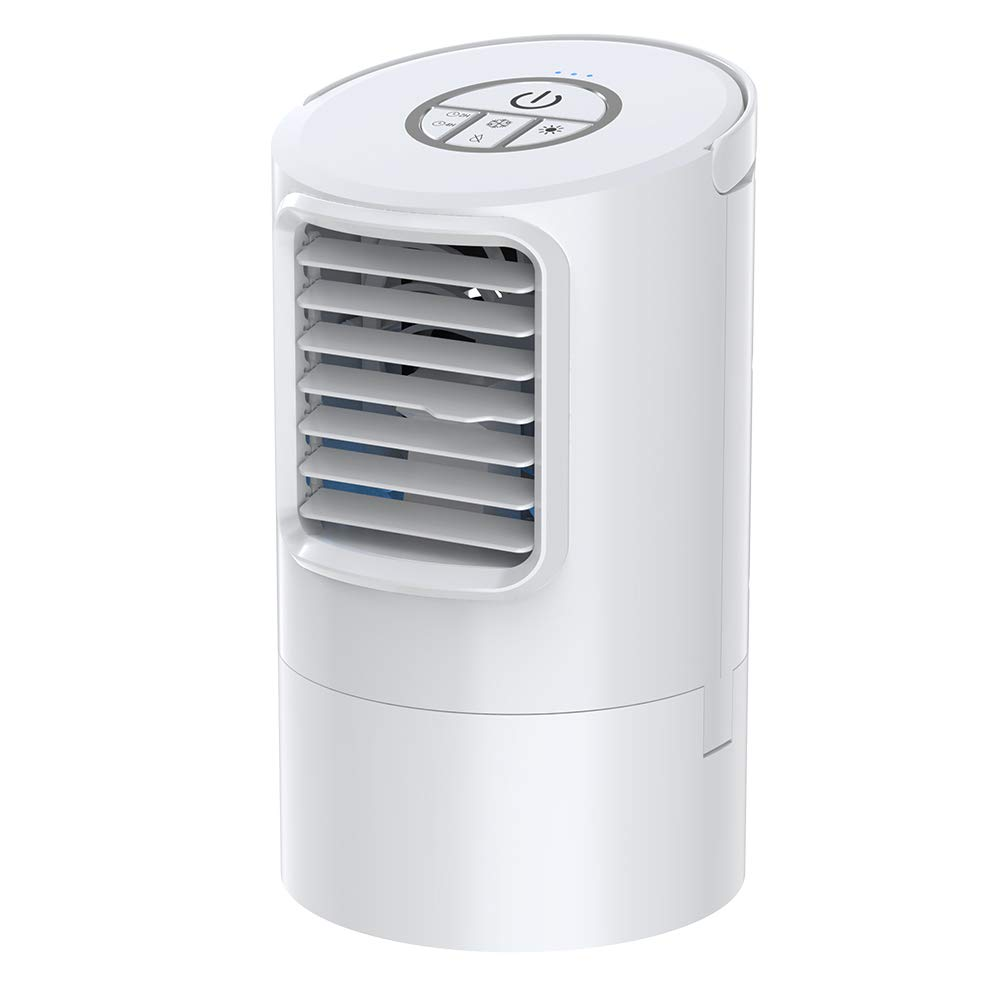 Mkocean Personal Air Cooler, Mini Space Cooler, Desktop Air Conditioning Fan with 3 Wind Speeds, Compact Evaporative Cooler Air Humidifier, Clean Tank Technology, Perfect for Office Dorm Nightstand by Mkocean