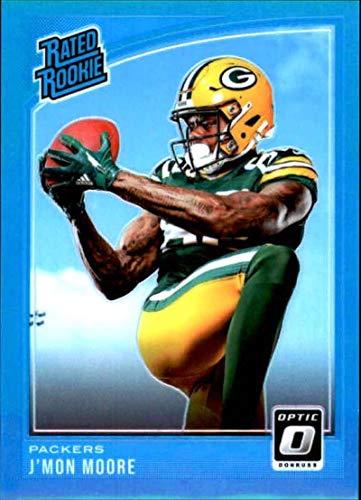 9b3bb8f5c Amazon.com  2018 Donruss Optic Aqua  182 J Mon Moore Rated Rookie  299  Green Bay Packers NFL Football Trading Card  Collectibles   Fine Art