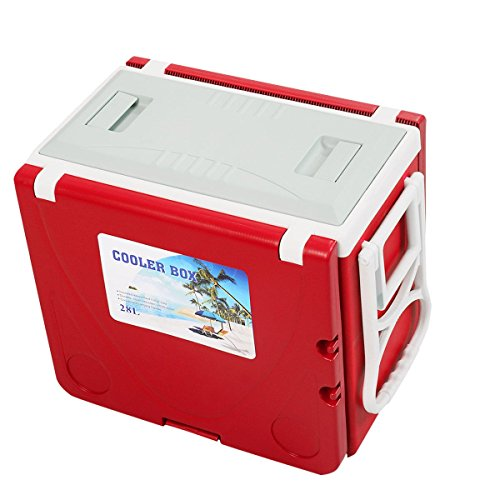 CHOOSEandBUY Multi Functional Rolling Picnic Cooler w/Table & 2 Chairs - RED by CHOOSEandBUY (Image #3)