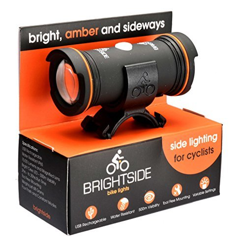 Indicator Lens 001 (Brightside Bike Lights - Side Lights for Cyclists. Amber, Bright, Rechargeable and Waterproof)