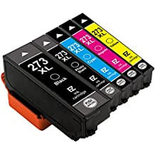 E-Z Ink (TM) Remanufactured Ink Cartridge Replacement for Epson 273XL 273 XL T273XL(1 Black, 1 Cyan, 1 Magenta, 1 Yellow, 1 Photo Black) 5 Pack for Epson Expression XP520 XP820 XP620 XP610 XP800 XP810