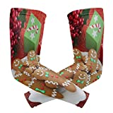 Perfectly Customized Arm Sleeves Christmas Cookie Mens Sun UV Protection Sleeves Arm Warmers Cool Long Set Covers