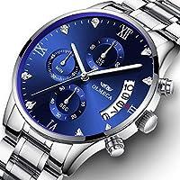 OLMECA Men's Watches Luxury Wristwatches Rhinestone Watches Waterproof Fashion Quartz Watches Women Watch Stainless Steel Watch 0878M-GKLMgd