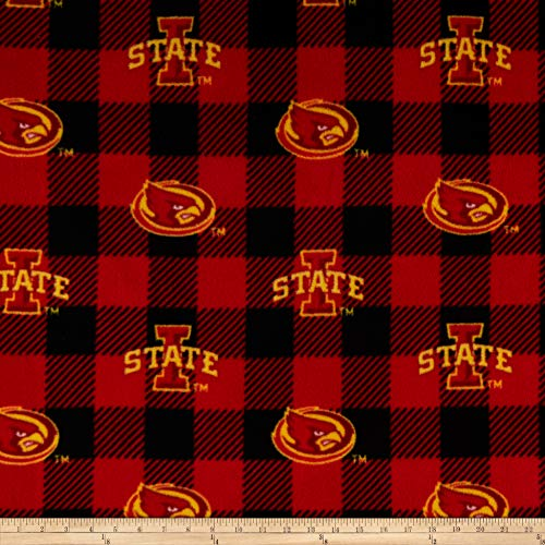 Sykel Enterprises NCAA-Iowa State 1190 Buffalo Plaid Fleece Multi, Fabric by the ()