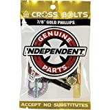 Independent Cross Phillips Head Black / Gold Standard Skateboard Hardware Sets - 7/8'
