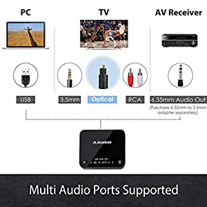 2018 Avantree HT4189 Wireless Headphones for TV Watching & PC Gaming with Bluetooth Transmitter (OPTICAL DIGITAL Audio, 3.5mm AUX, RCA, PC USB), Plug & Play, No Delay, 100ft Long Range, 40hrs Battery