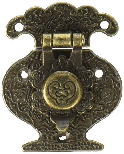 Fabscraps ME208 Old Brass Embellishments, Ginger Jar Catch, 4-Pack Brass Ginger Jar