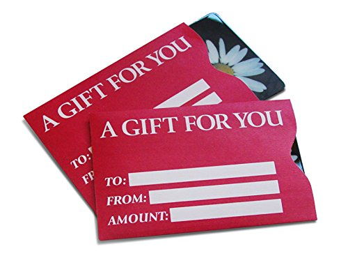 Gift Card Sleeve in Red (100 pack)