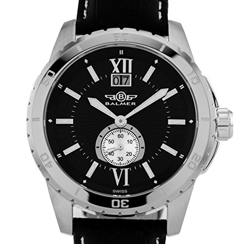 Balmer DB9 men's Swiss luxury watch, textured dial, Ronda 6004.B movement, Sapphire crystal