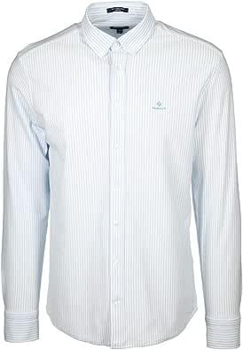 Camisa Gant Oxford Rayas Blanca y Azul Hombre S Azul: Amazon.es: Zapatos y complementos