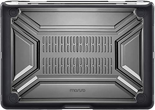 MOSISO MacBook Air 13 inch Case 2020 Release A2337 M1 A2179, Heavy Duty Plastic Hard Shell with TPU Bumper & Keyboard Cover Only Compatible with MacBook Air 13 inch with Retina Display, Black