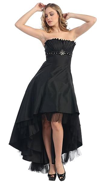 big sale 2ed1d 3b8be Nachtigall+Lerche Abendkleid vorne kurz hinten lang Abiballkleid  Brautjungfernkleid Hochzeitsgast Vokuhila-Kleid große Größen