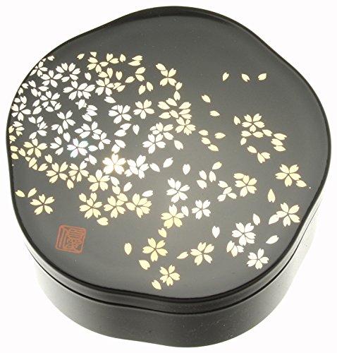 Kotobuki Japanese Lacquer Box, Black, Small