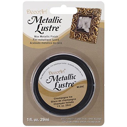 DecoArt ML04C-28 Metallic Lustre Wax, 1-Ounce, Champagne Ice