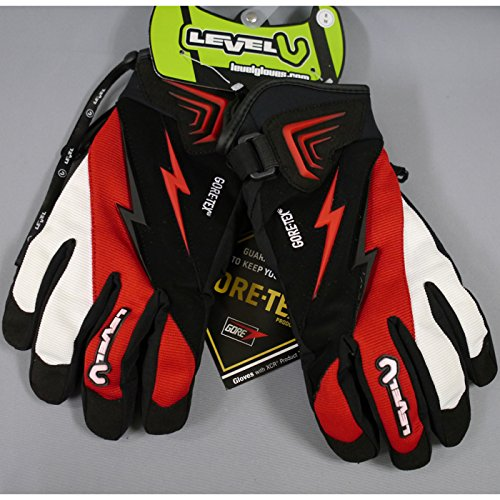 Level Thunder XCR Snowboardhandschuhe, Weiß ROT-XS-6.5