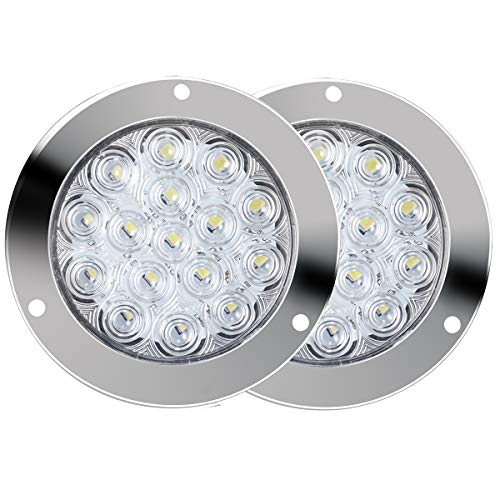 - TOPPOWER 2pcs 16-LED Red 5.5