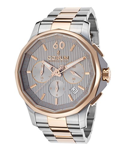 Corum 984-101-24-V705-Fh11 Men's Admiral's Cup Legend Auto Chrono Ss And 18K Rose Gold Grey Dial Watch